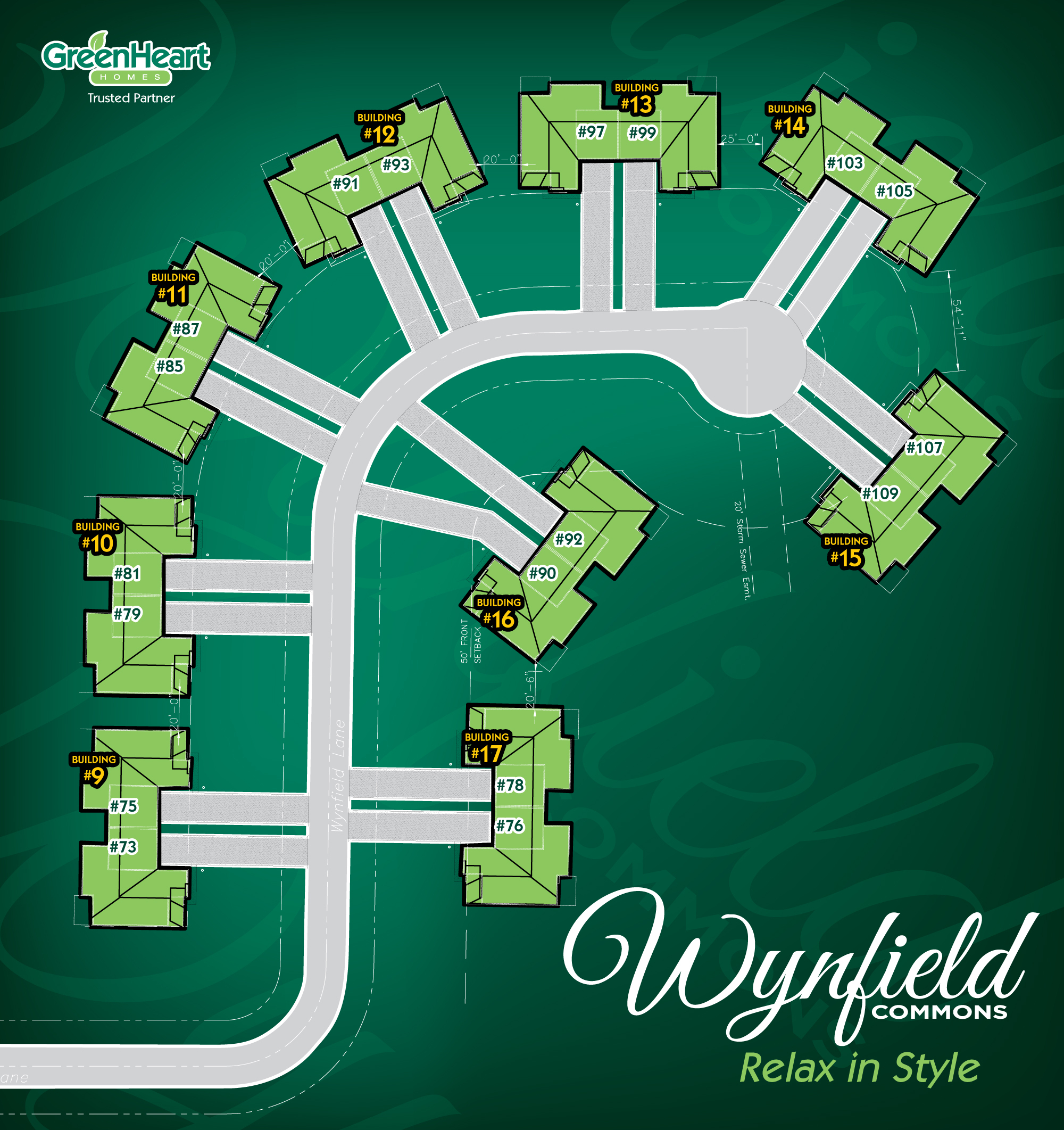 Wynfield Commons Sitemap
